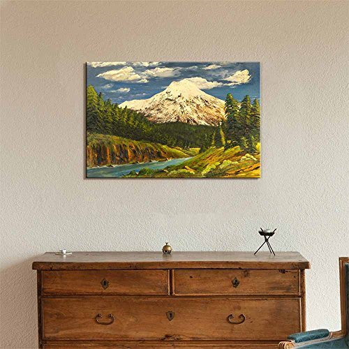 Beautiful Scenery Landscape of Spring Valley in Oil Painting Style Wall Decor