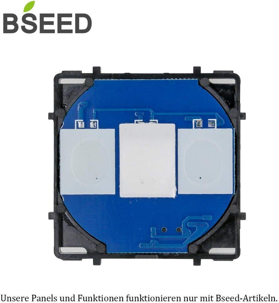 BSEED EU Standard 1 Fach 1 Weg Lichtschalter Wei/ß 86mm