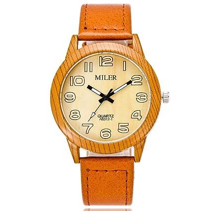 HL-PYL Relojes, Moda, Relojes Correa De Cuero, Hombres Y Mujeres Ocio