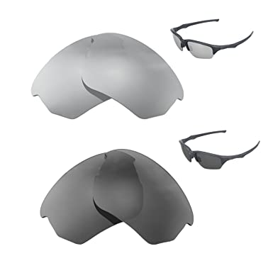 d485070851 Image Unavailable. Image not available for. Color  Walleva Polarized  Titanium + Black Replacement Lenses For Oakley Flak Beta Sunglasses