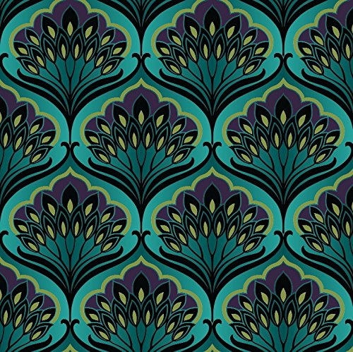 Arthouse Pavonis Peacock Black and Blue Wallpaper, Modern Home Dcor