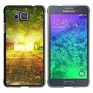 """For Samsung Galaxy Alpha G850 , S-type Naturaleza Árbol Alleay"""" - Arte & diseño plástico duro Fundas Cover Cubre Hard Case Cover"""