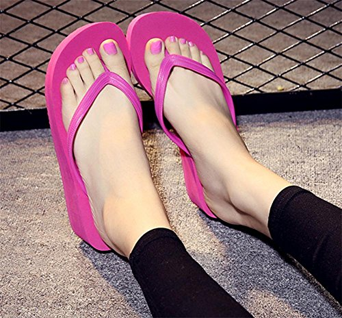 RuiSommer-Strand-Schuhe Damen-Charakter-Pantoffeln Hang Ferse dicke Sandalen 4