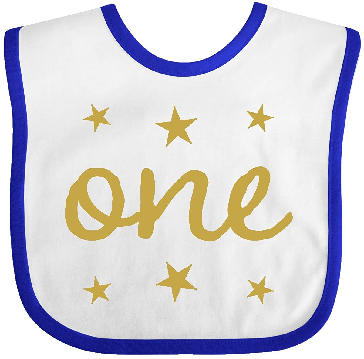 Inktastic - 1st Birthday Outfit One Gold Baby Bib 25795 14-153493-116-879-2979
