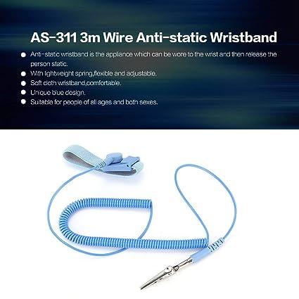 UEETEK Anti-Static Wrist Strap Adjustable Grounding Wrist Strap Band