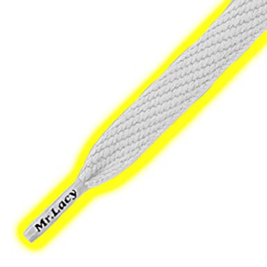 Flat Shoelaces Glow in the Sun Laces Mr Lacy Flatties Yellow
