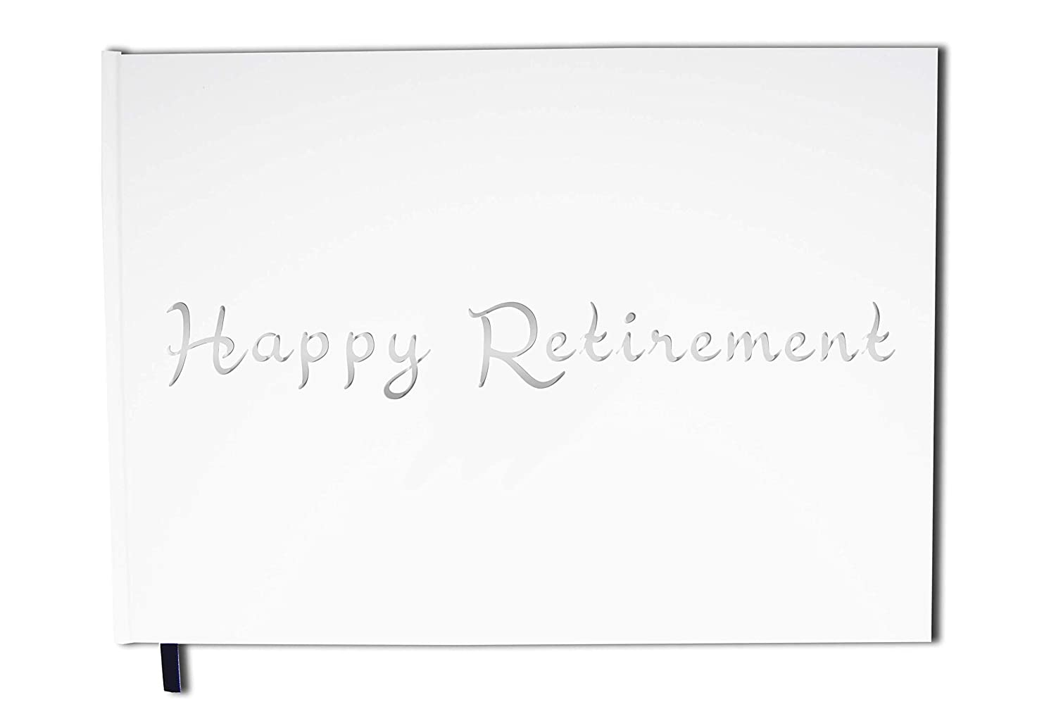 Uttscheid Guest book : Happy Retirement Premium quality mate cover Blue 100 numbered pages