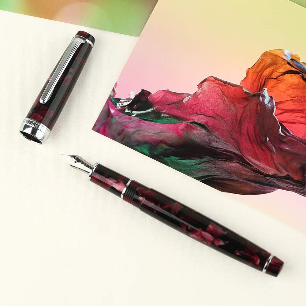 Moonman C1 Fouintain Pen Bent Nib Fine to Broad Size Fude Pen Eyedropper and