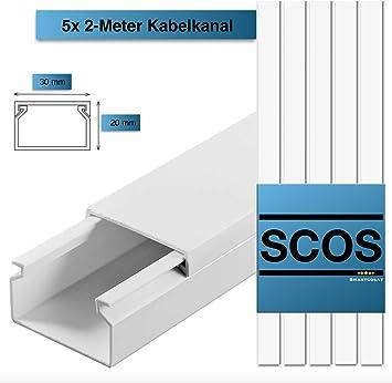 Kabel kanal Pro Weiß TV Kabelleiste Wand Boden PVC Selbstklebend Schraubbar