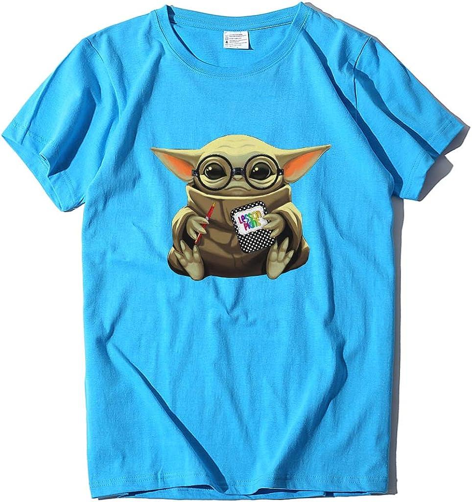 Geurzc Graphic Funny Cute Baby Yoda Tees Shirts for Women//Men