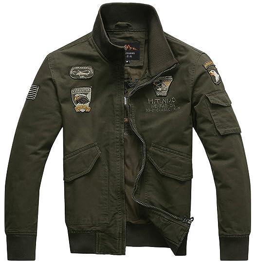 3a5fe6e151e7e2 YYZYY Herren Classic Baumwolle Bomberjacke Air Force Patches Bomber Jacken  Mäntel XS-2XL Mens Military