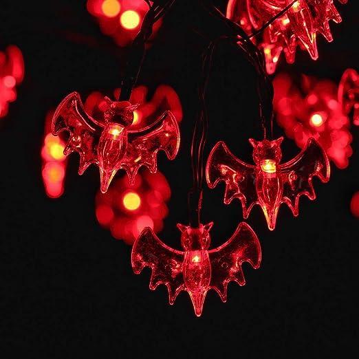 6 opinioni per RECESKY Rosso Pipistrello Luci di stringa- 20 LED 2.5m Halloween Catene