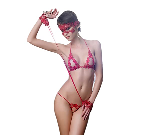 af11fe908 Cherry s Beauty 4pcs Set Women Sexy Mask + Hand Circle +Bra Brief Sets  Underwear Sexy