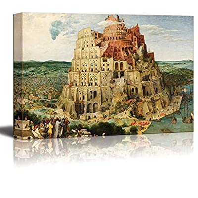 The Tower of Babel (Vienna) by Pieter Bruegel The Elder - Canvas Print Wall Art Famous Painting Reproduction - 24