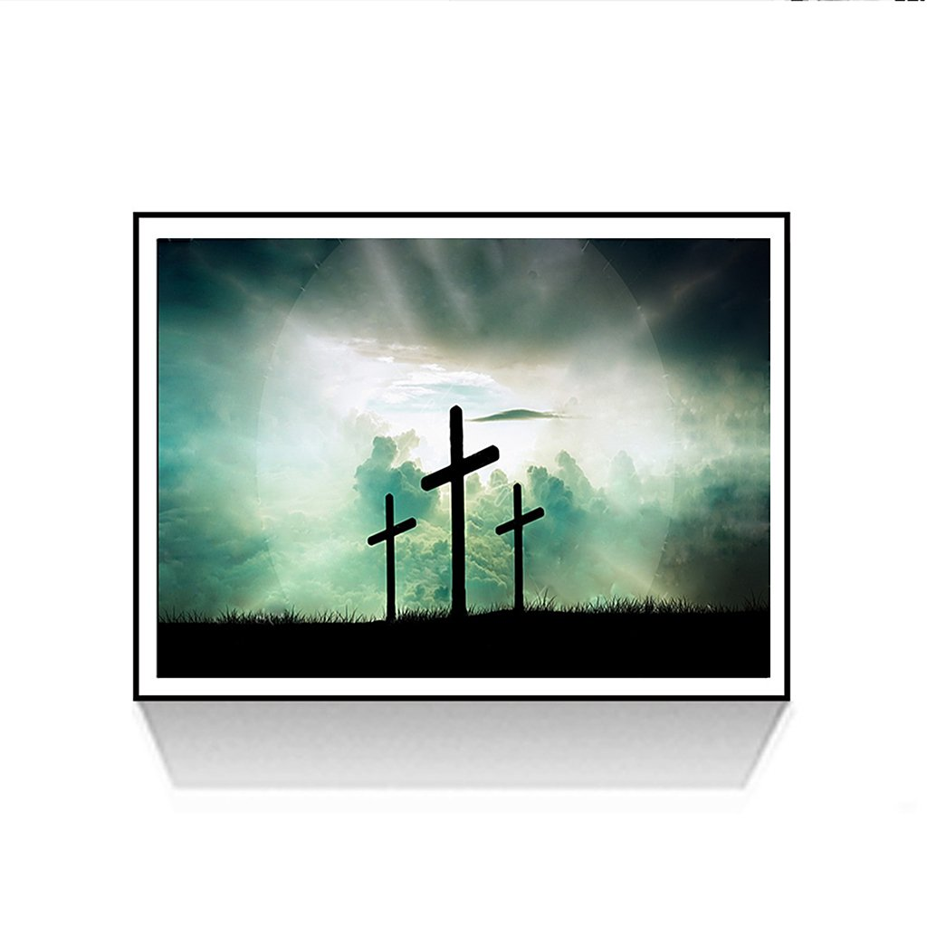 Qisuw DIY 5D Diamond Painting(Christian Religion)-Staron Full Drill Embroidery Rhinestone Painting Cross Stitch Colorful Dream Kit Wall Art Decor by Number Kits Home Decor
