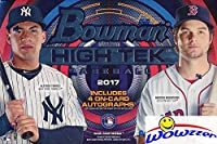 2017 Bowman High Tek Baseball Factory Sealed HOBBY Box with FOUR(4) On-Card AUTOGRAPH Cards! Look for Autographs of Aaron Judge, Rhys Hoskins, Mike Trout, Bryce Harper & Many More! WOWZZER!