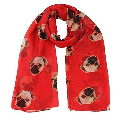 WINWINTOM Scarf - Set de bufanda, gorro y guantes - para mujer rojo rosso