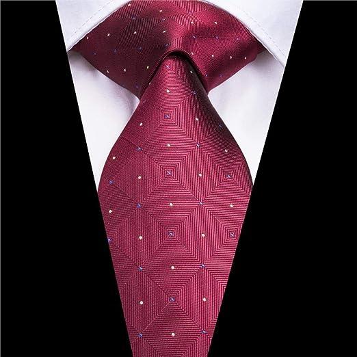 XZ Hombres de la moda corbata Sn-3172 Nueva lazo Rojo Rojo 8.5cm ...