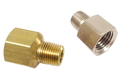 1 4 Npt >> Amazon Com Fittings 1 4 Female To 1 8 Npt Male Reducer Brass