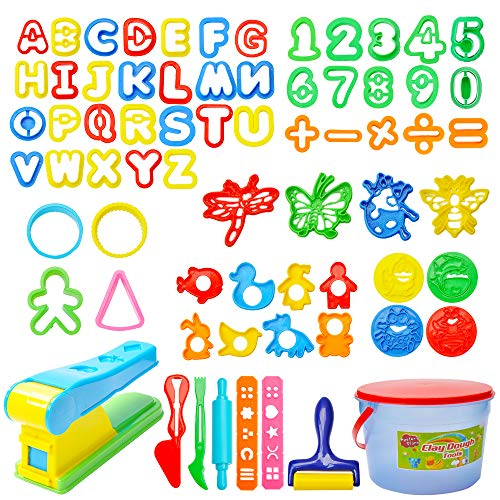 Mysterystone 69 Pcs  Kit Clay Dough Party