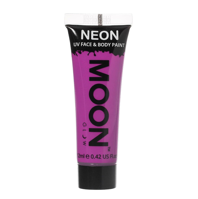 pintura neón fluorescentes de color morado para el cuerpo