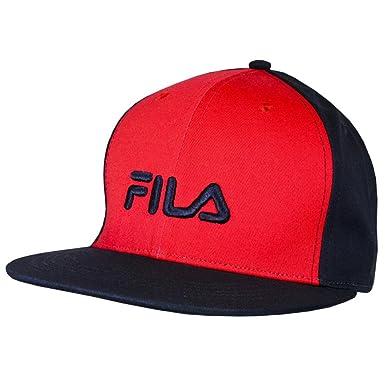 Fila Fedo gorra de béisbol, un tamaño, azul/rojo y negro/plata ...