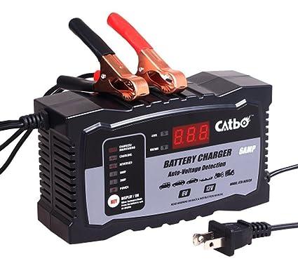 Amazon.com: Cargador de batería de coche para scooter 6 V/12 ...