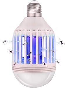 Bug Zapper Light Bulb 2 in 1, Mosquito Killer Lamp Led UV Lamp Flying Moths Killer Fits E26 Light Bulb Socket(L)
