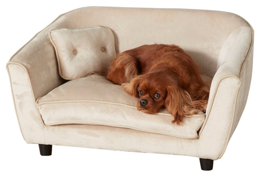 Enchanted Home Pet Astro Bed with Pillow, 32 by 21.5 by 18.75-Inch, Oyster