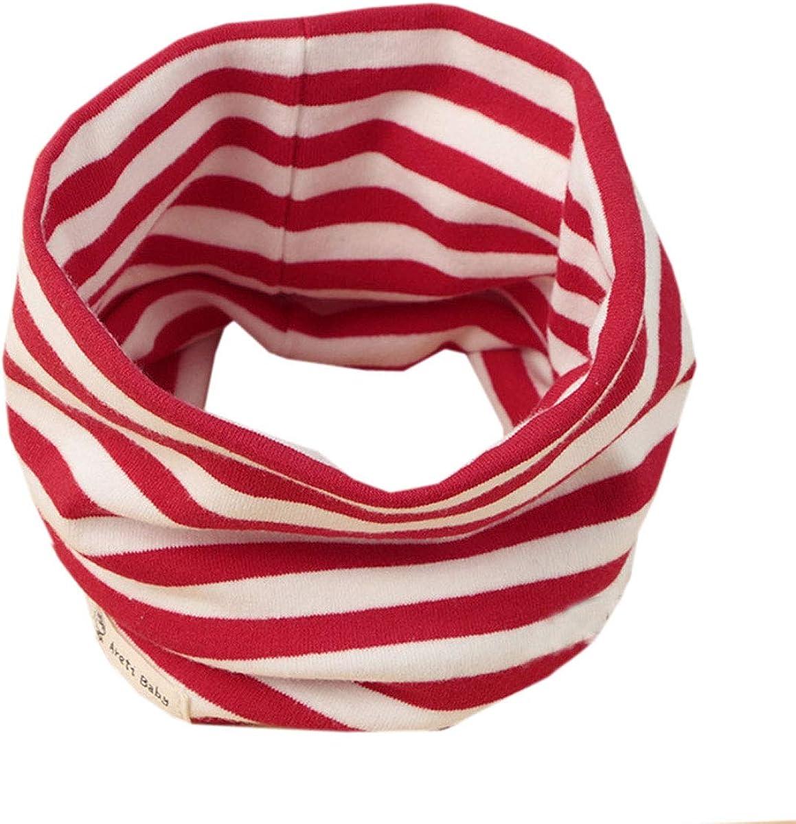 ACVIP Kids Toddler Baby Double-Layer Stripe Neck Warmer Circle Scarf