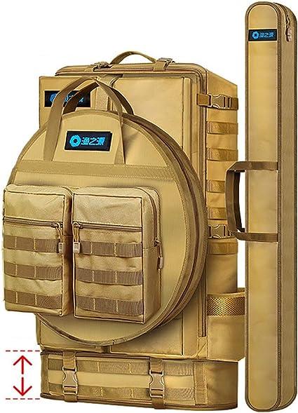 3-in-1-wasserdichter Angelrucksack mit Angelrutentasche und runder Angeltasche f/ür Outdoor-Aktivit/äten,Mainbag+roundfishbag LOY Multifunktionsrucksack