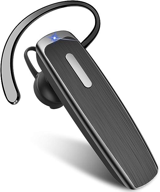 New Bee Manos Libres Auricular Bluetooth, Auricular Inalámbrico Bluetooth 5.0 Bluetooth Teléfono con Cancelación de Ruido 22H Tiempo de Funcionamiento para iOS Android Taxista (Negro): Amazon.es: Electrónica