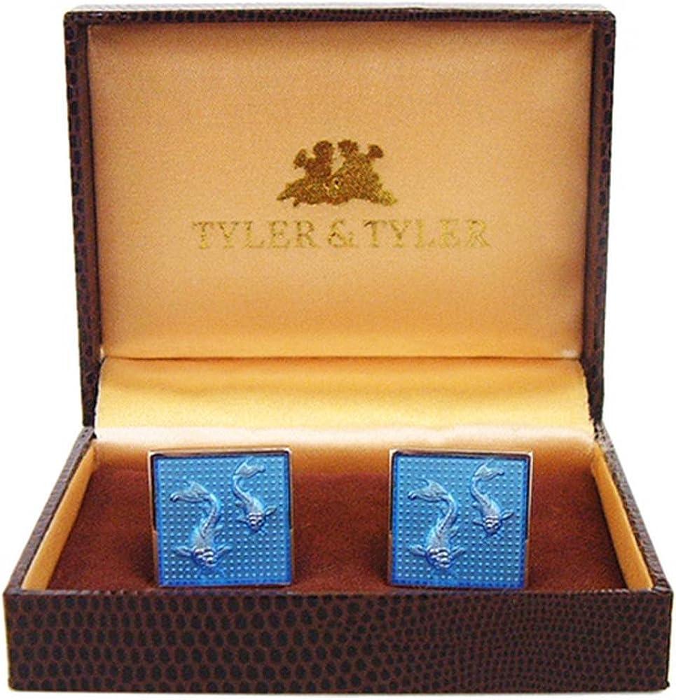 Blue Tyler and Mens Koi Carp Cufflinks