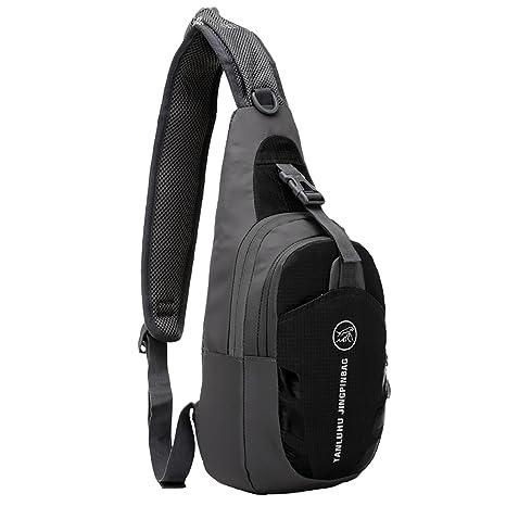 8bcf57a6a3 MPTECK @ Nero Impermeabili da Crossbody bag Sportivo Borse a spalla Zaino  Monospalla Petto borse palestra
