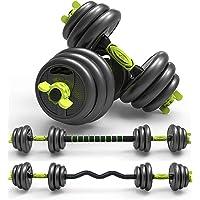 Halters met verstelbare Gewichten Halters voor bodybuilding 3 in 1 dumbbells met rechte en gebogen verbindingsstangen…