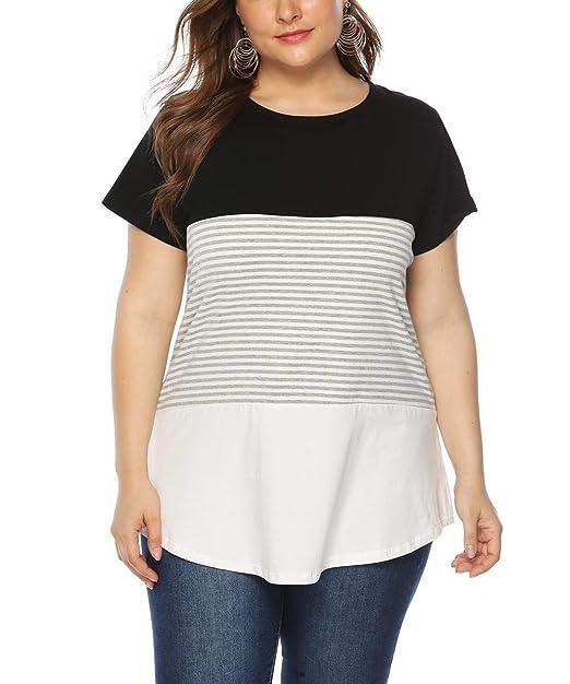 Sortendesign Schönheit verkauf usa online Gloria&Sarah Womens Tops Plus Size Only Short Sleeve Casual T Shirts XL-4XL