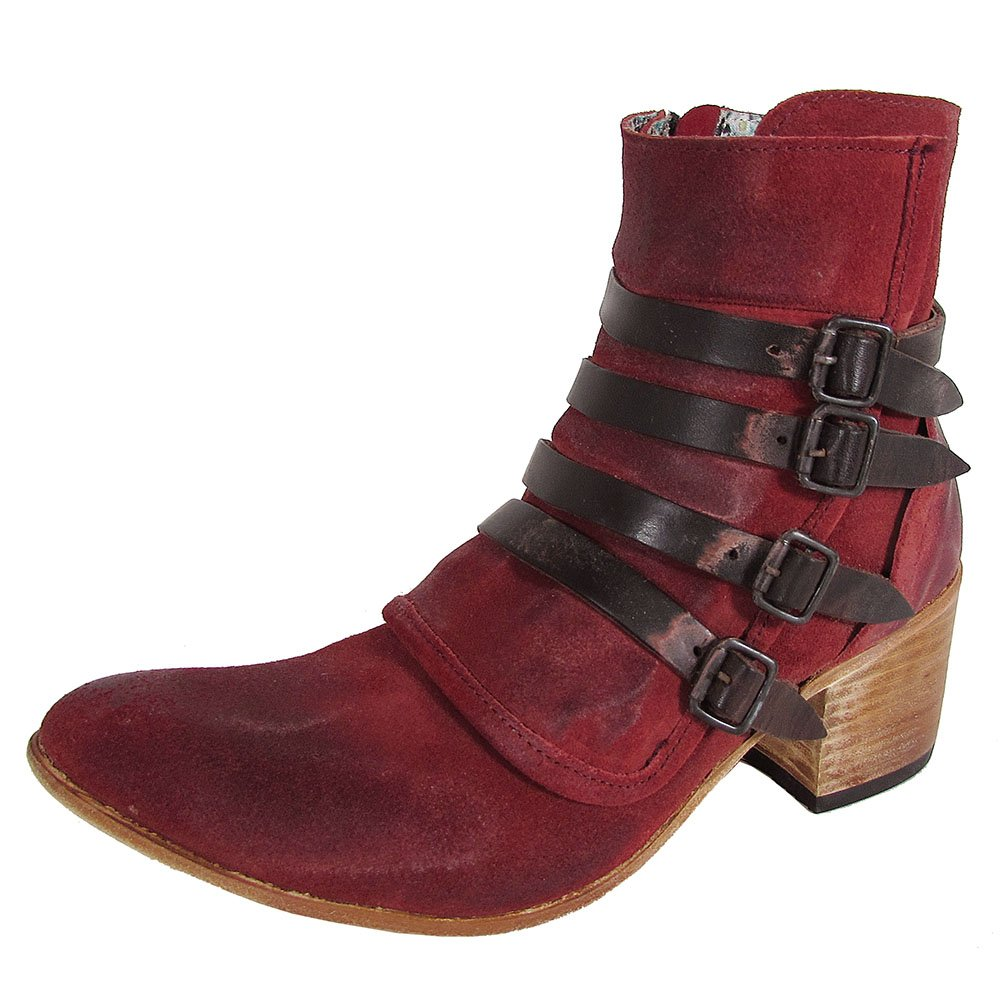 Freebird Women's Fb-Weson Boot B078YX6PCF 10 B(M) US|Red Suede