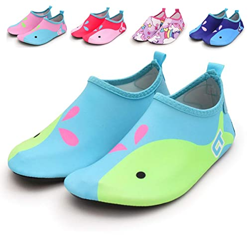BENHERO Kids Toddler Swim Water Shoes Quick Dry Non Slip Barefoot Summer Outdoor  Aqua Socks for c7986dc400a2a