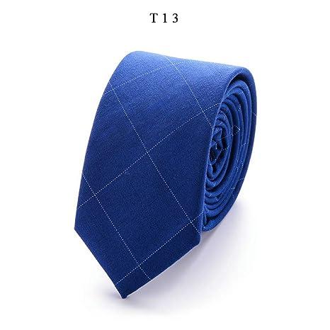 WOXHY Top Fashion - Corbata de algodón de 6 cm, diseño de ...