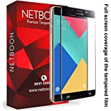 NETBOON® Original Samsung A9/Samsung A9 Pro Tempered Glass Screen Protector Glass Guard Full Edge to Edge Cover for Samsung Galaxy A9 Pro - Black