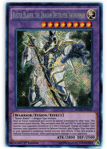 Yu-Gi-Oh! - Buster Blader, the Dragon Destroyer Swordsman (BOSH-EN045) - Breakers of Shadow - 1st Edition - Secret Rare