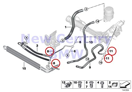 4 X BMW Genuine Lubrication System Gasket Ring A16X20-Cusn 735i 735iL 740i 740iL 750iL