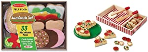 Melissa & Doug Felt Play Food - Sandwich Set & Pizza Party