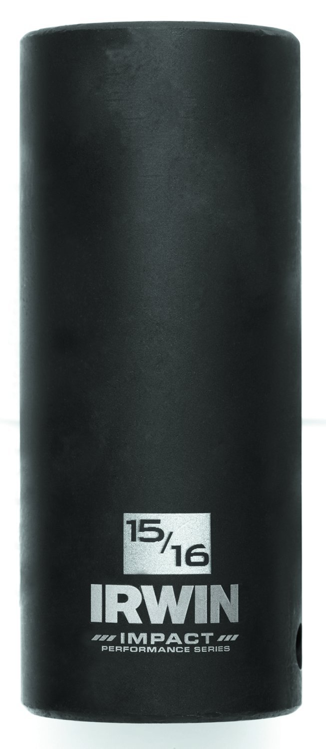 IRWIN Tools 1882404 Impact Performance Series 6-Point Deep Well Socket Bit 1//2-Inch Square Drive 15//16-Inch