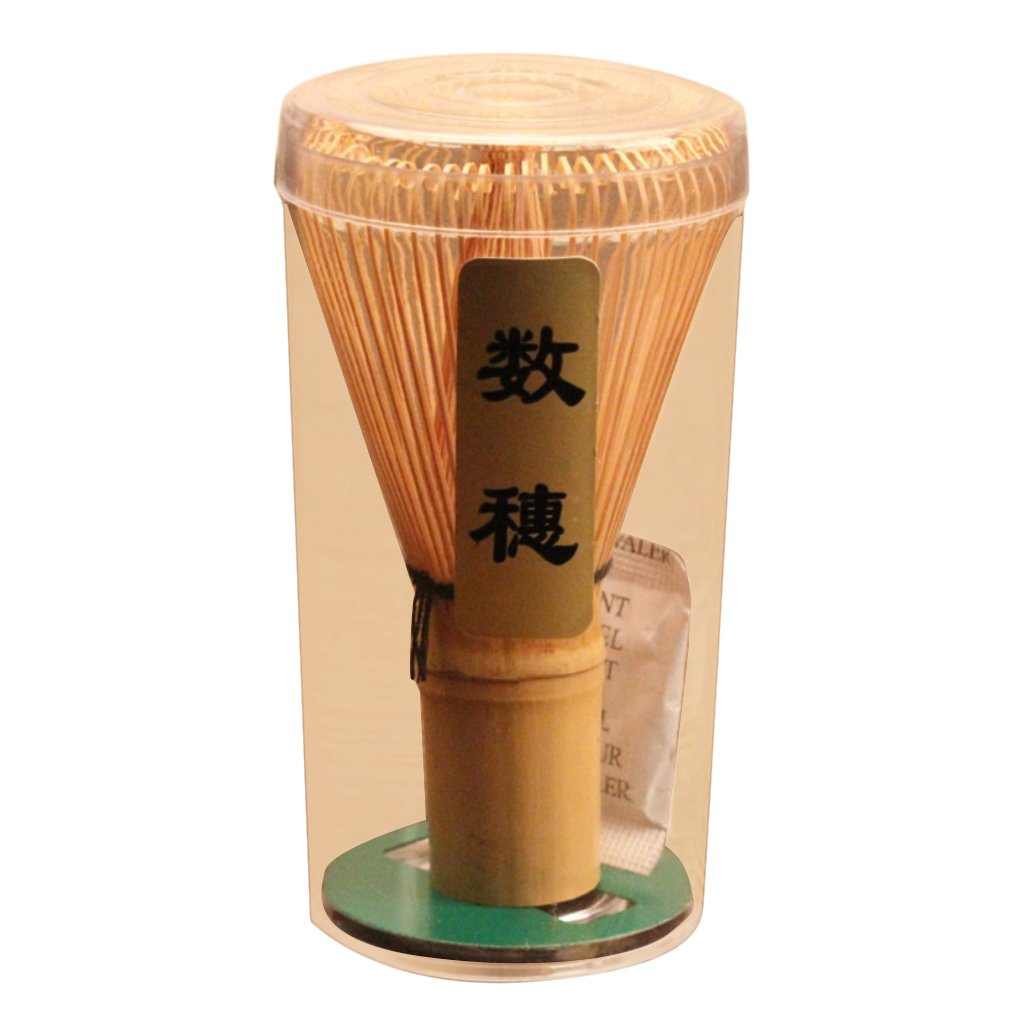 Dovewill Japenese Powder Whisk Green Tea Preparing 60-70 Prongs Bamboo Chasen Matcha Brush