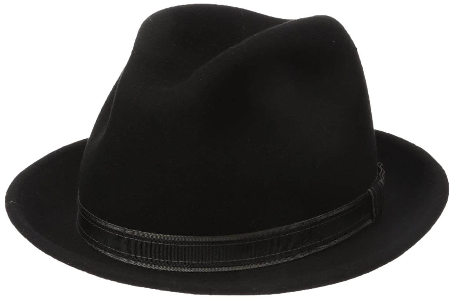 Country Gentleman Mens Clooney Fedora Hat with Contrast Band Fedora