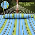 Zeny® Hammock Quilted Fabric With Detachable Pillow Double Size Spreader Bar Heavy Duty Brand New Stylish 450lbs Capacity