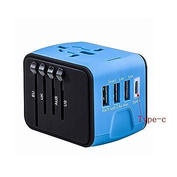 Amazon.com: Adaptador de corriente universal de viaje ...