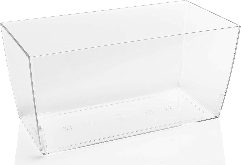 TERAPLAST 10447030 Maceta, 30 x 15 x 14 cm, Transparente, 30x15x14 cm