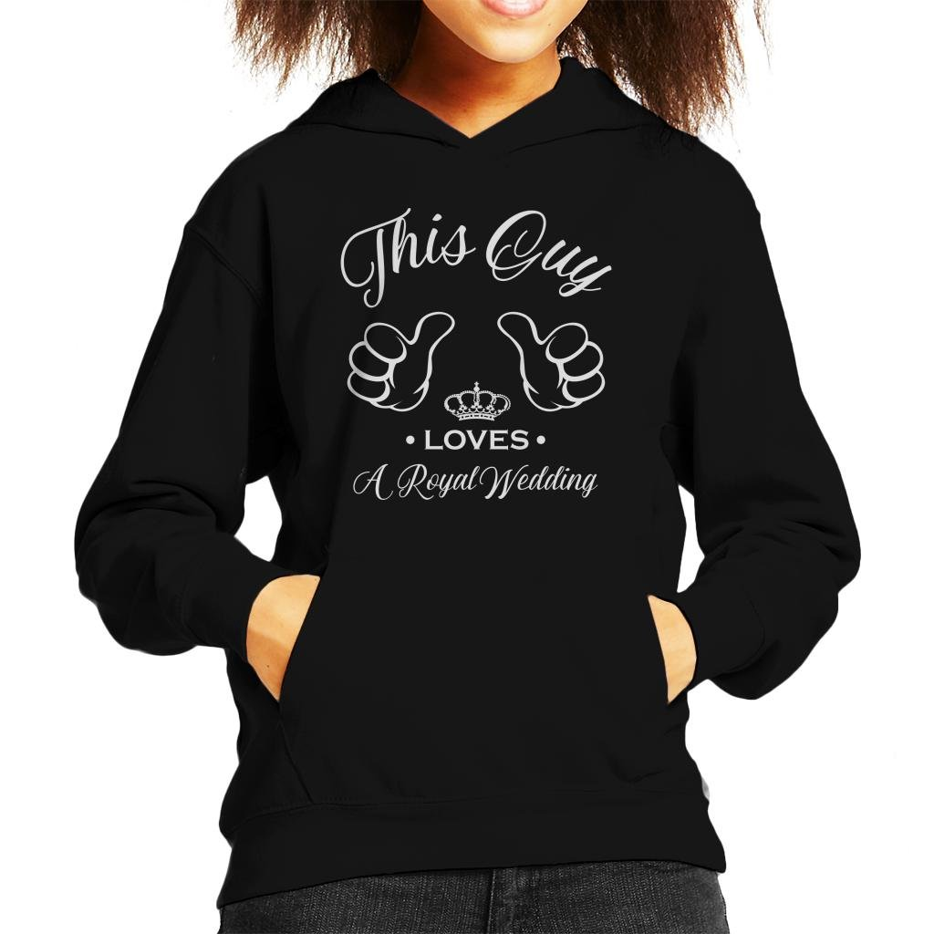 Coto7 Harry and Meghan This Guy Loves A Royal Wedding Kid's Hooded Sweatshirt